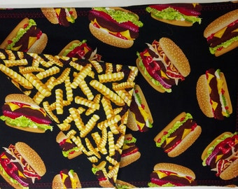 Placemats - reversible Hamburgers and Fries Set of 4