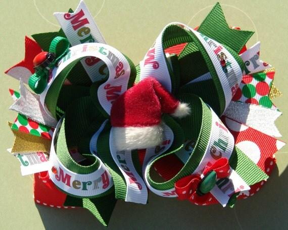 Merry Christmas Hair Bow