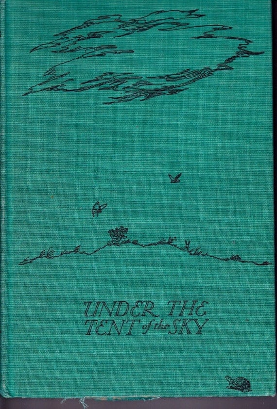 animal poems for children vintage kids book Under the Tent of the Sky, Robert Lawson art, poetry by de la Mare, Rossetti, Farjeon etc