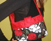 Mini Banner Bag - Skulls and Roses