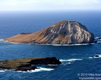 Beautiful View of Rabbit Island off of Oahu in Hawaii