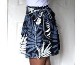 Black, White and Grey Mini Skirt with Sash
