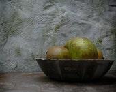 "Plaster and bronze ""lunar"" bowl"