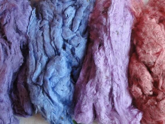 Silk Fibre. Pastels