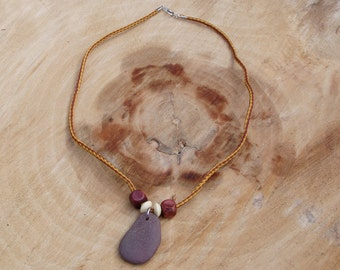 Rustic stone and bead necklace