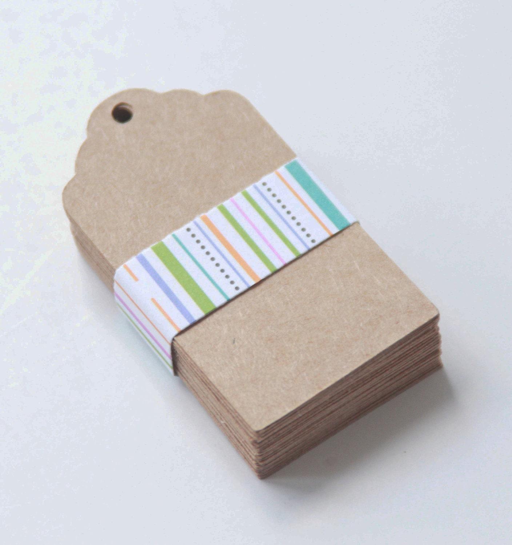 36 Blank Kraft Paper Hang Tags Blank Hang Tags Gift Tags