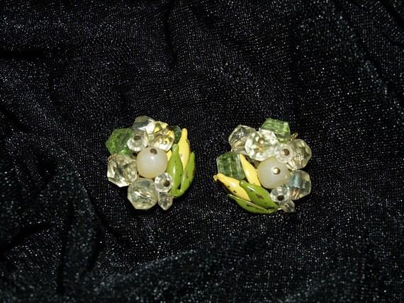 Vintage Clip on Earrings West Germany