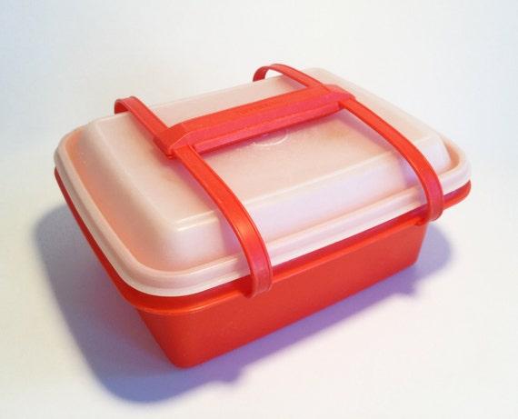 Vintage Orange Tubberware Lunchbox with Handles