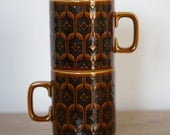 Mid Century Modern Hornsea Cups in Mustard