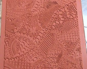 Zentangle Unmounted Rubber - Clay Texture Stamp   Pattern 1