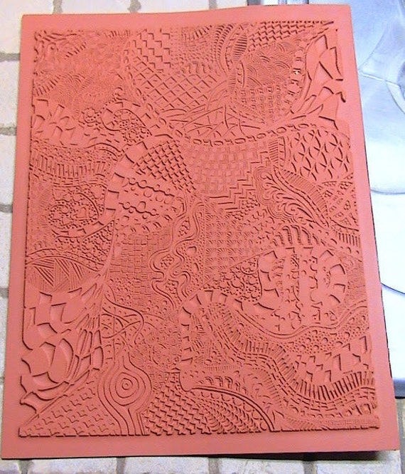 Zentangle Unmounted Rubber - Clay Texture Stamp -  Pattern 2