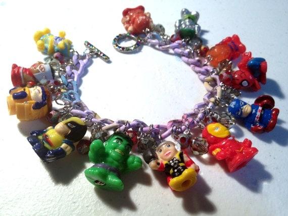 Marvel Comic Book Character Charm Bracelet