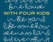 Our House Blue - 4 KIDS - Digital Download - Printable