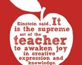 Art of the Teacher - Poster - Digital Download - Printable - Teacher gift