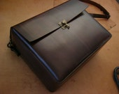 RESERVED FOR WILLIAM - Q5 - Goth Leather Messenger Bag