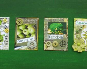 Green Power Scrapbooking Canvas