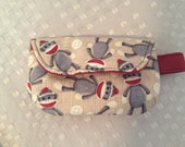 Pacifier Pouch-Sock Monkeys
