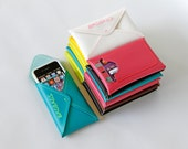 """Hot Pink iPhone 4 Case - iPod Pouch - with I.D. Pocket/Wallet- Birdbags """"Birds Nest"""""""