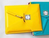 "iPad 3 Case - Yellow Faux Leather - Tablet / E-reader Sleeve - VEGAN - Birdbags ""Bird Pad"" - FREE SHIPPING"
