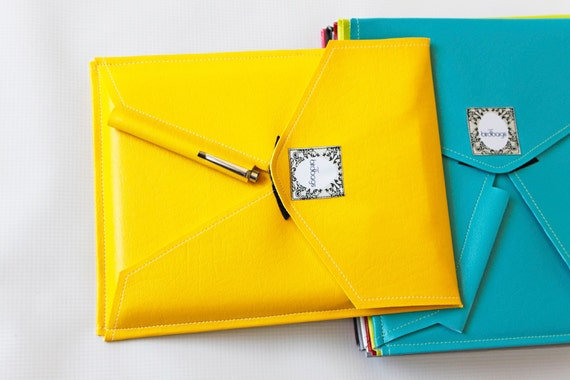 "iPad 3 Case - Yellow Faux Leather - Tablet / E-reader Sleeve - VEGAN - Birdbags ""Bird Pad"" - FREE SHIPPING"