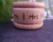 Twelve Personalized Mr and Mrs  Rustic Wood Napkin RIngs for Rustic Weddings