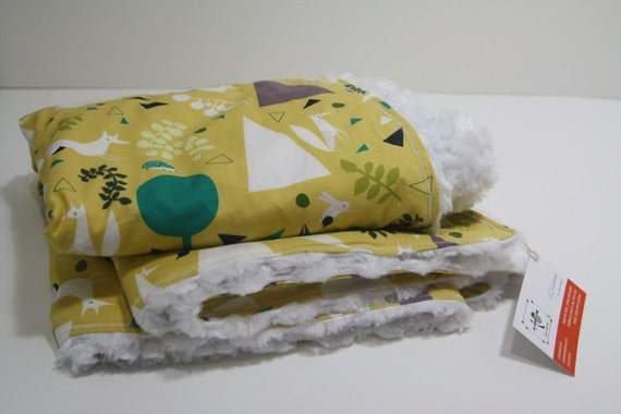 RESERVED (for miapia434) the chic blanket - outfoxed yellow