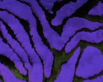 Third Yard Purple Zebra Faux Fur