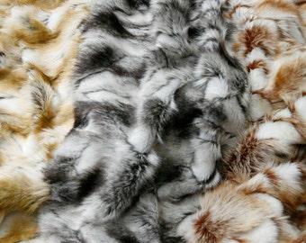 Brandy Fox Shag Fur Swatches