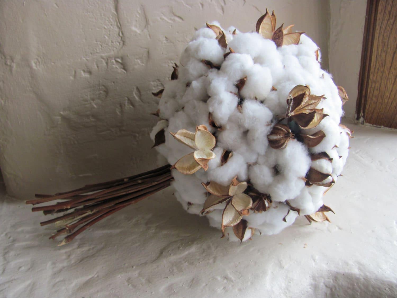 DIY Cotton Bolls Single Stem Use In Floral