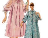 1954 - Rare Negligee, Duster, and Housecoat Patterns - Simplicity 4972 - Complete Original Vintage Pattern