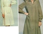 1970s - Classic Shirt Dress w/Yoke Detail - Butterick 4047 - Complete Original Vintage Pattern
