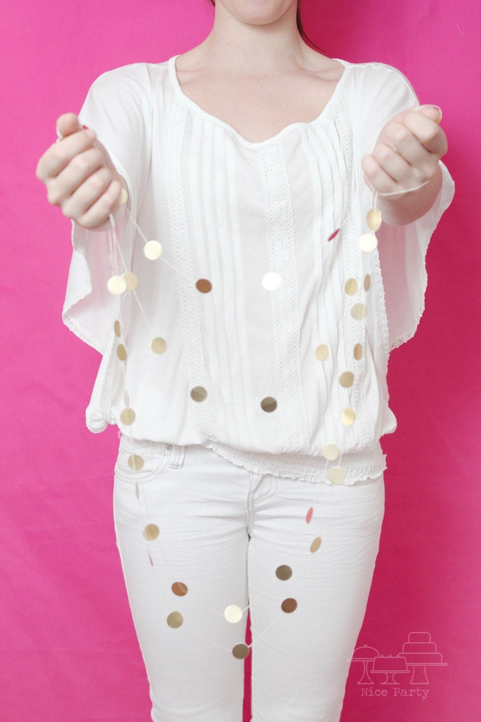 Gold dot mini garland for Gold dot garland