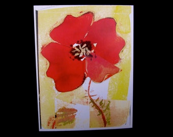 poppy greeting cards - set of 8