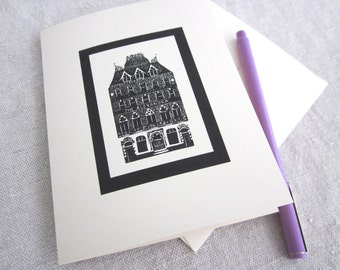 london pub wood engraving cards - set of 6