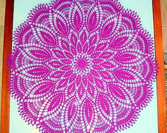 Beautiful crocheted Purple doily. Ready to ship.