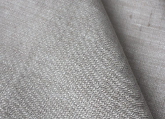 "Linen fabric 59""x39"" Natural light grey"