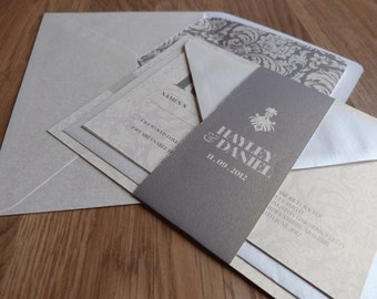 Wedding Invitation Suite - Damask Wedding Range
