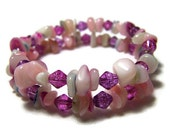 Shell Bracelet Island Beach Jewelry Vintage Pink Purple White One Size Jewelry