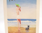 Vogue Cover Summer Girl Thinking of You Note Card