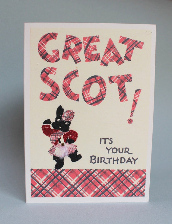Great Scott - it's a dancing scottish terrier on this birthday card