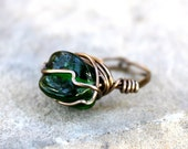 Tender Springtime -  Wire Wrapped Bead Ring - Size 6 - READY to SHIP