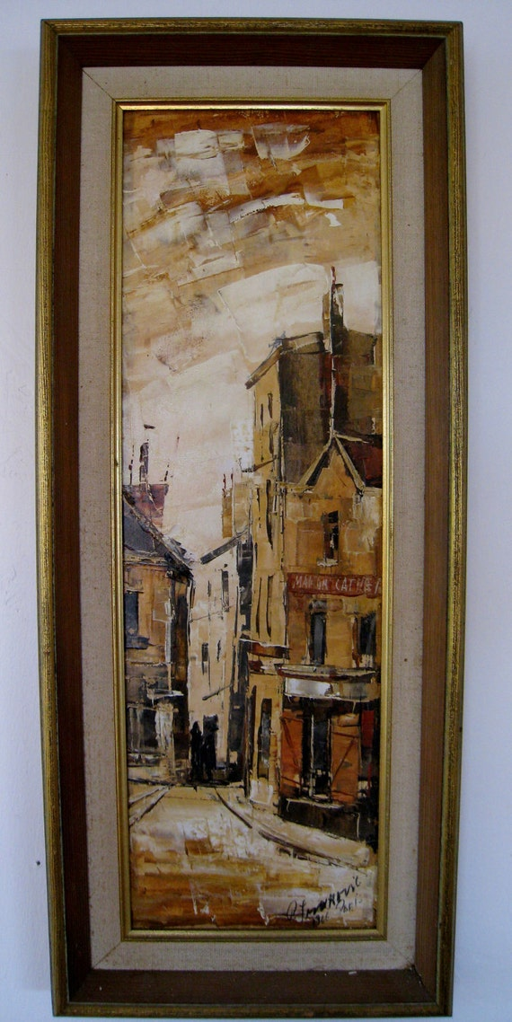 Mid century original oil on canvas framed and signed