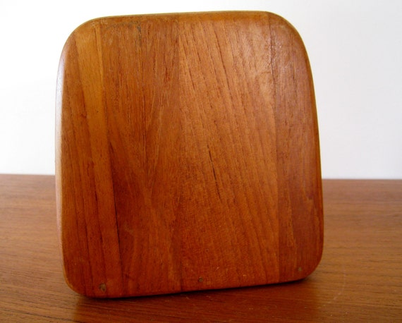 Danish modern teak napkin holder MK Denmark