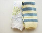 Modern Baby Leg Warmers - Jersey Blue & Starburst