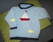 Knitted Sail Boat Sweater