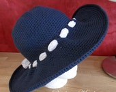 Sunhat -Susan- crocheted for City and Beach