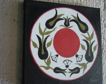 Red and Black Original Painting / Turkish painting