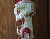 Lace & Christmas Home Decor Wall Hanging