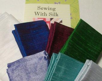 Dupioni Silk Quilt Kit: Jewel Box Colorway