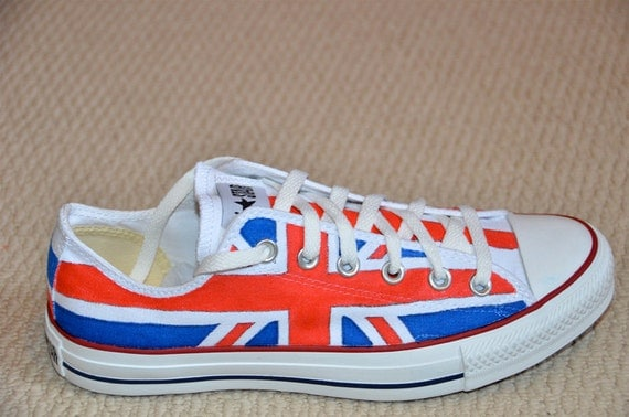Union Jack on Converse All Stars - Youth